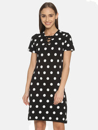 Kultprit Women's Dress With All Over Printed