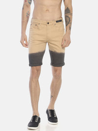 Beige Ombre Denim Shorts