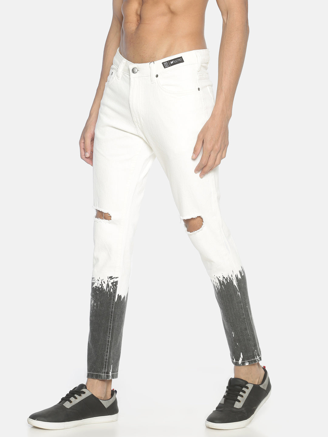 Rugged Skinny Jeans With Print