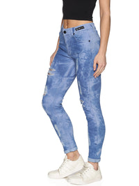 Kultprit Women's Solid Jeans With Distressed