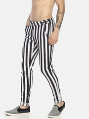 Colour Block Stripe Skinny Jeans