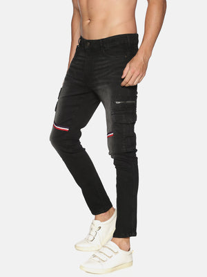 Impackt Men's Skinny Jeans With Cargo Pocket & Tape