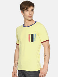Yellow solid t-shirt