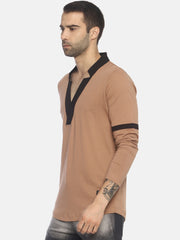 Full Sleeve Star Neck Casual T- Shirt