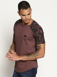 Impackt Brown printed raglan t shirt