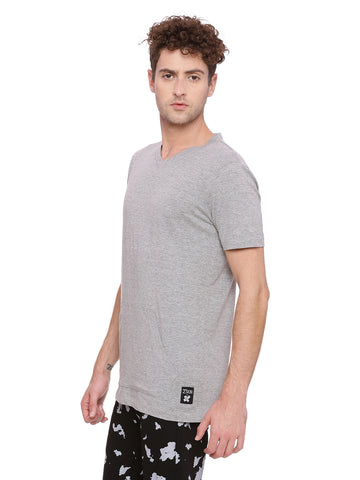 V neck T-Shirt with Kangaroo Pocket