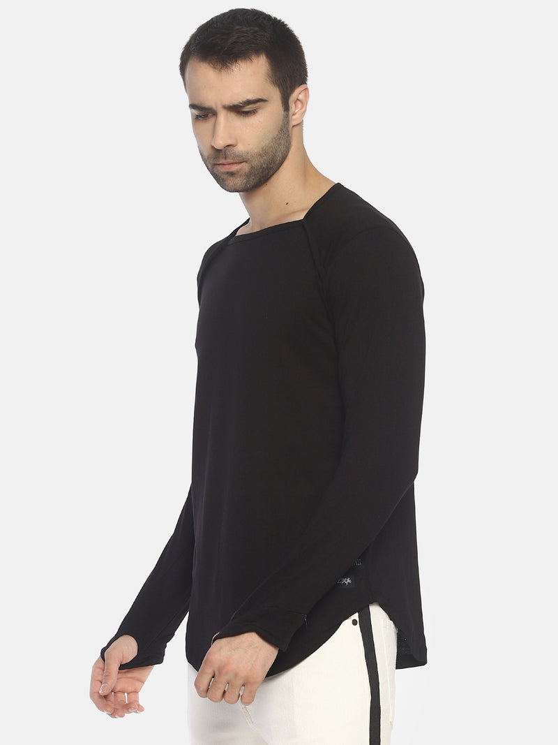 Square Neck T-Shirt With Thumbhole