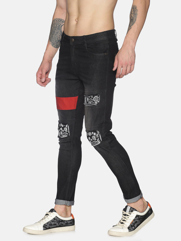 Distressed with Printed Patchwork (Reorder)