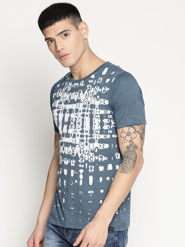 Impackt blue all over print t-shirt