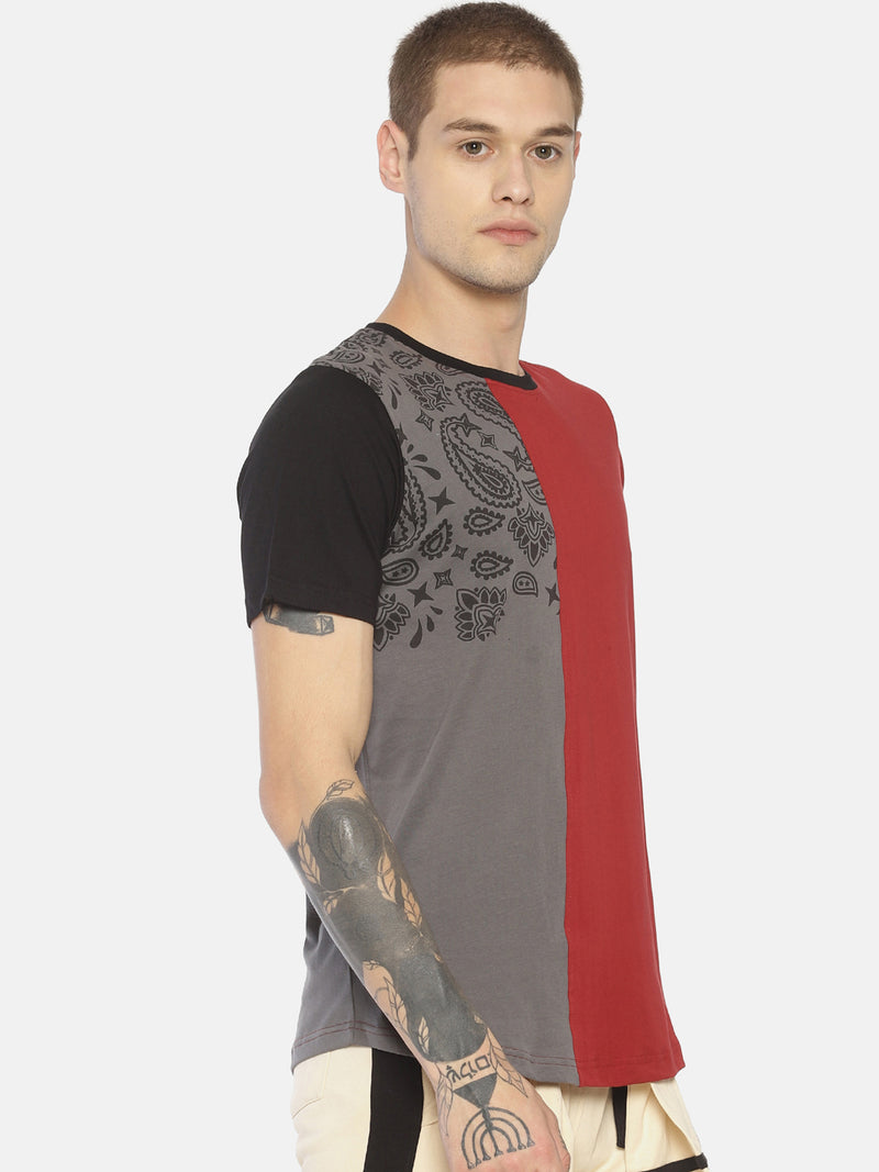 Red printed cut & sew t-shirt