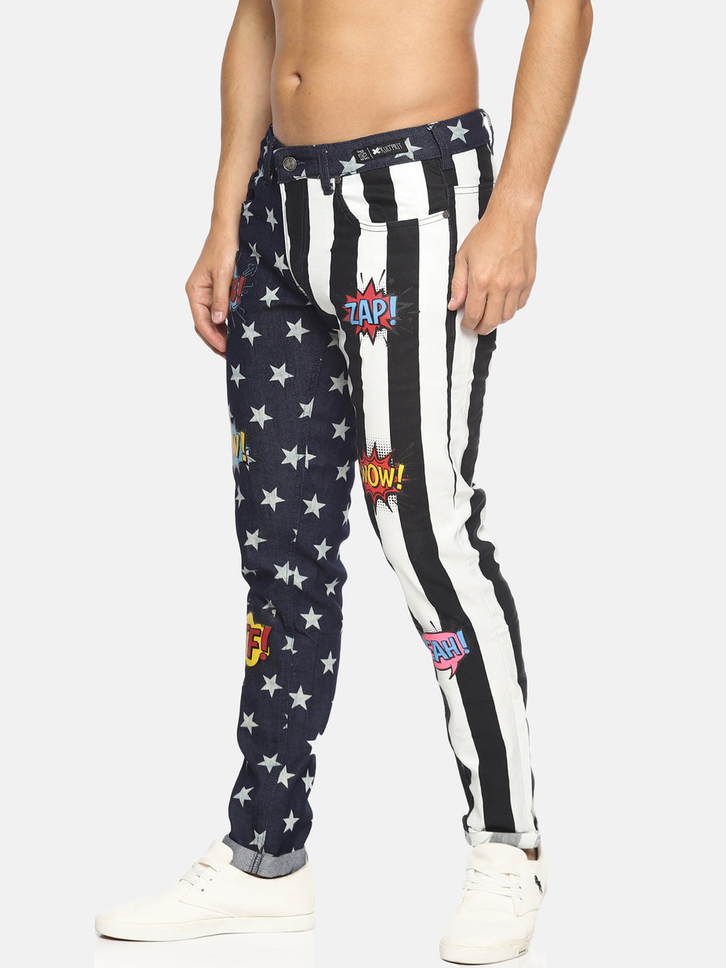 Kultprit Jogger Style Trouser With Print & Drawstring