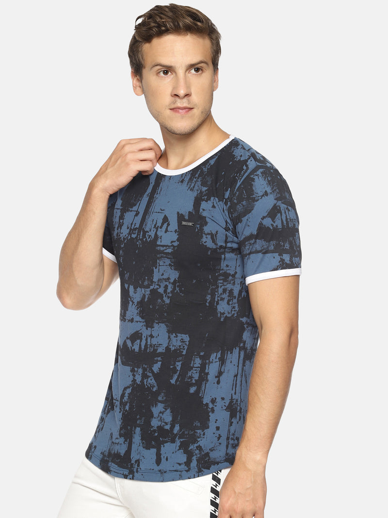 Blue all over print t-shirt