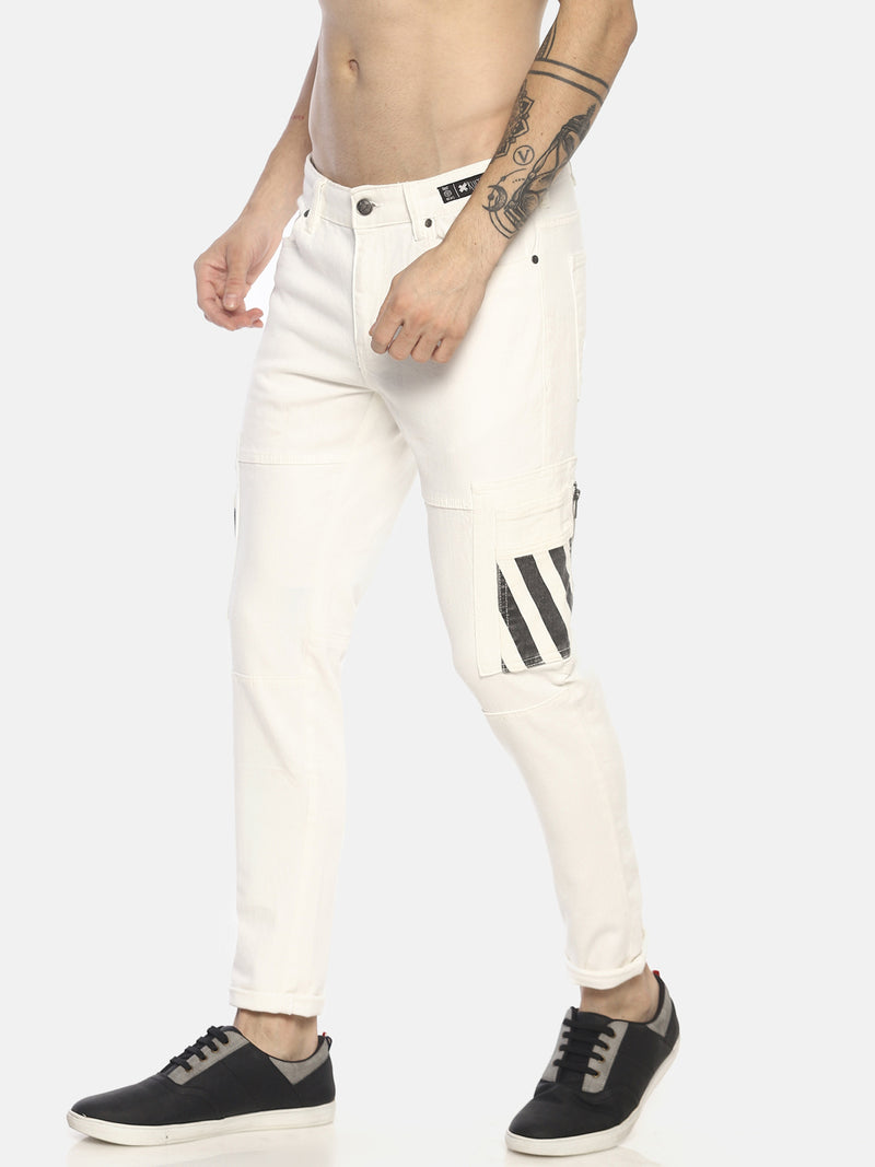 cargo pockets skinny denims