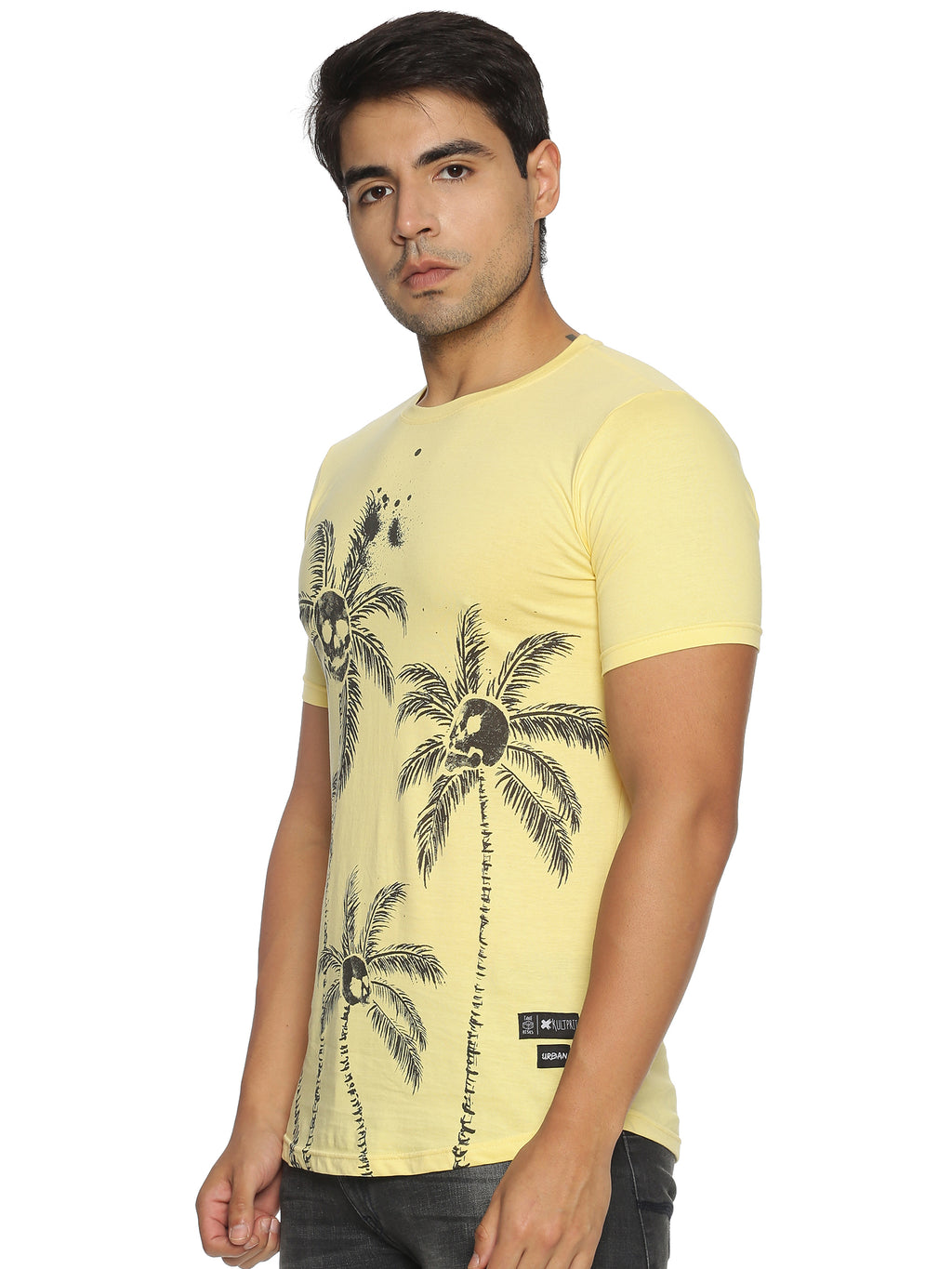 Kultprit Cotton Round Neck Men Printed T-Shirt