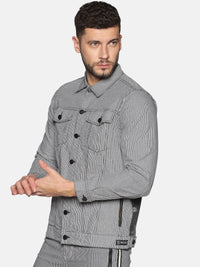 Kultprit Men's detachable sleeves jacket with back print