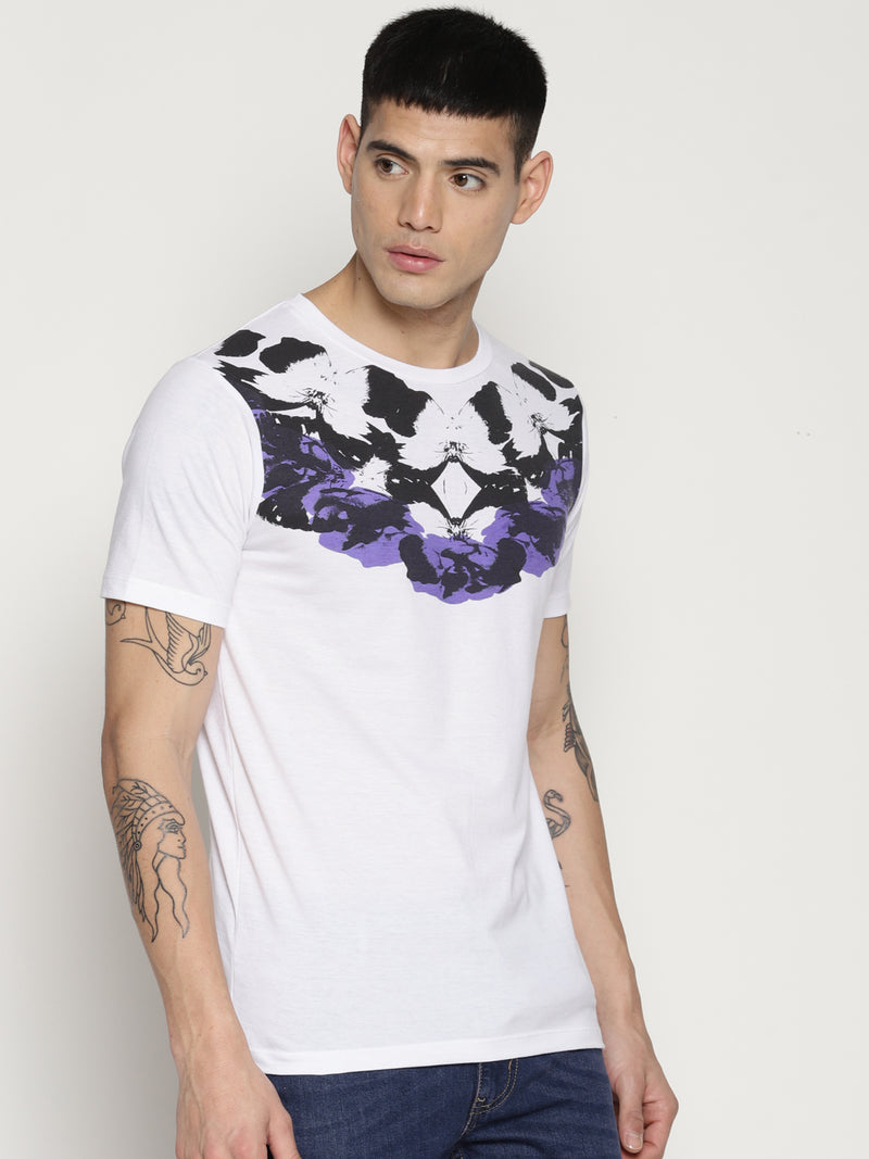 Impackt white chest print t-shirt