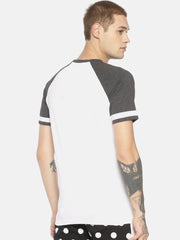 Round Neck Raglan Sleeves Tshirt With Placement Print