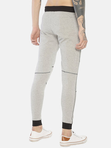 Cut & Sew Slim Fit Joggers With Zipper