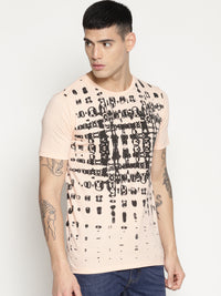 Impackt beige all over print t-shirt