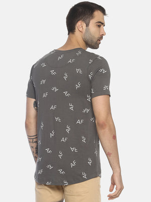 All Over Printed ,Short Sleeve ,Round Neck Tshirt