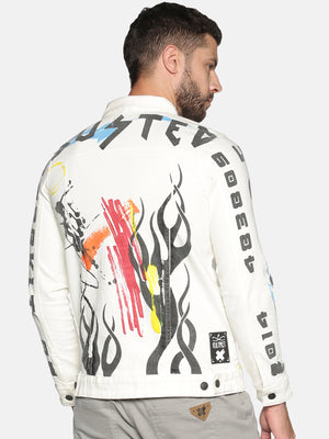 Kultprit Men's Jacket With Allover Printed