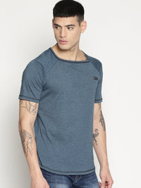 Impackt solid blue square neck t-shirt