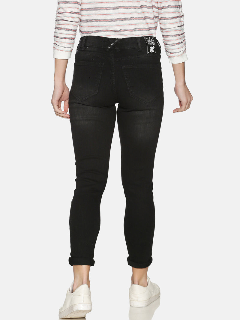 Kultprit Women's Jeans With Distress