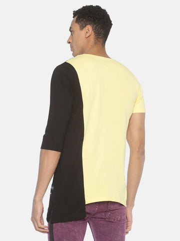 Short Sleeve Colour Block Round Neck T shirt