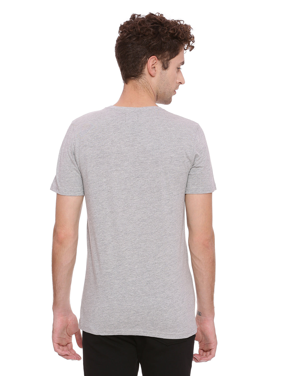 Round neck T-Shirt with print on front panel