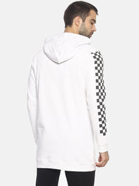 Printed Slim Fit Sweatshirt With Hoodie