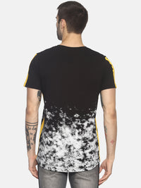 Printed Round Neck Tshirt  With Curve Hem