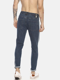 light wash skinny denim with twin tapes