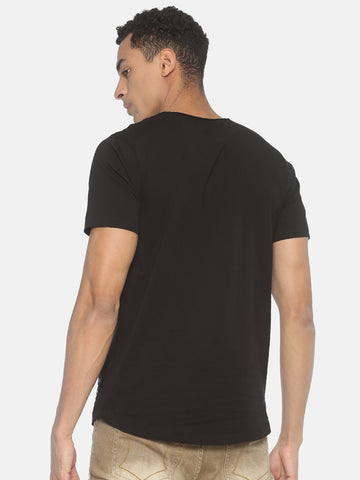 Round Neck Short Sleeve T-Shirt With Neck Print