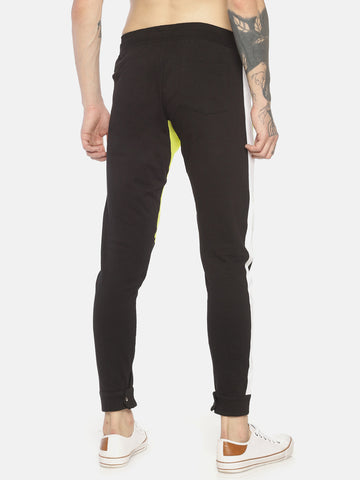 Cut And Sew Slim Fit Joggers With Zipper