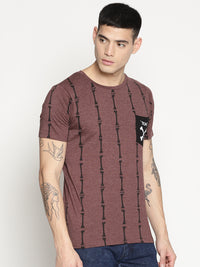 Impackt brown all over print t-shirt