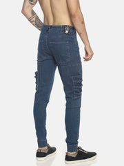 skinny denim with cargo pocket