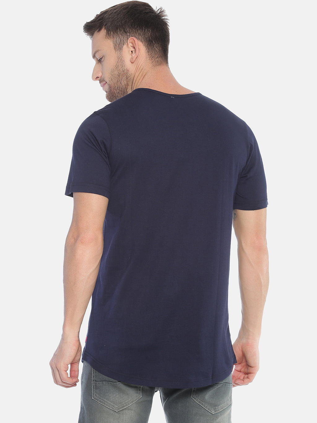 Kultprit Square Neck T-Shirt for Men