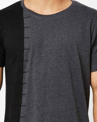 Round Neck T-Shirt with cut & sew panel