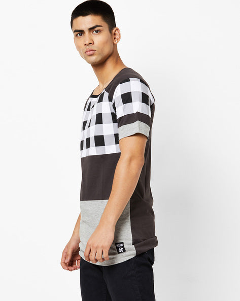 Round Neck T-Shirt with cut & sew panels