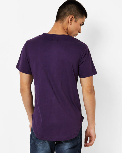 Round Neck T-Shirt with patch on front panel