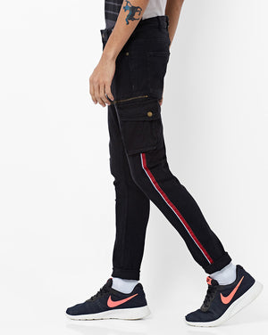 Mid-Rise Jeans with Cargo Pockets