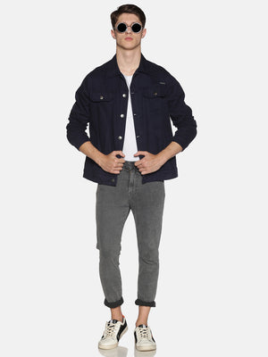 Impackt Men's Full Sleeves Denim Jackets With Back Print
