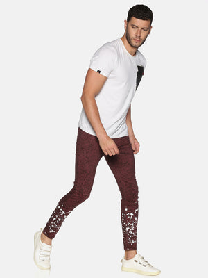 Kultprit Men's Skinny Jeans With Placement Print