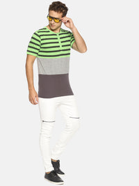 Green striped t-shirt