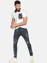 Impackt Men's Jeans With Allover Printed