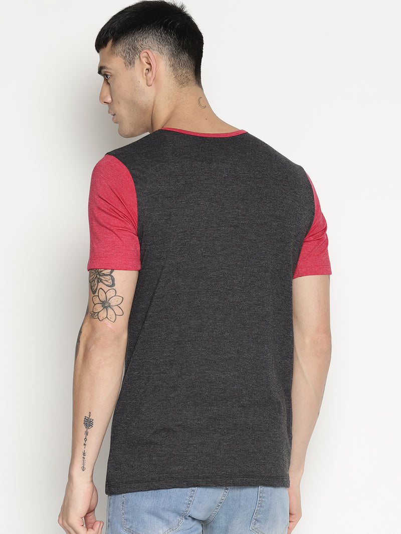 Impackt black color block t-shirt
