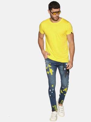 Impackt Men's Skinny Jeans With Placement Print