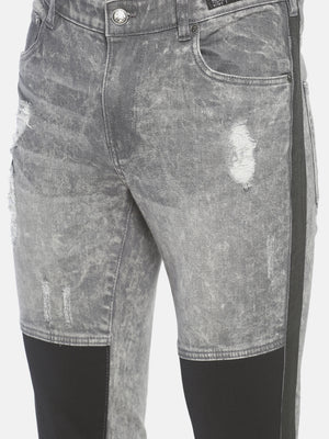 Washed skilly Denim with mesh and Side tap