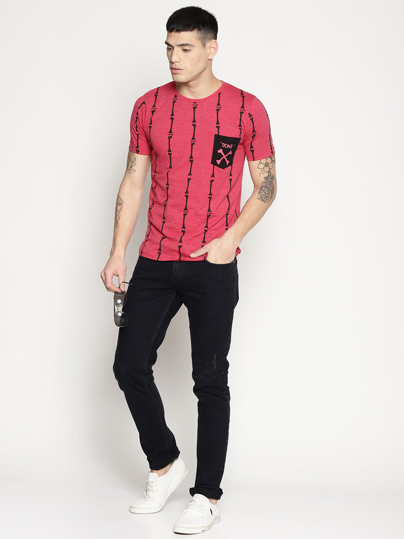 Impackt  red all over print t-shirt