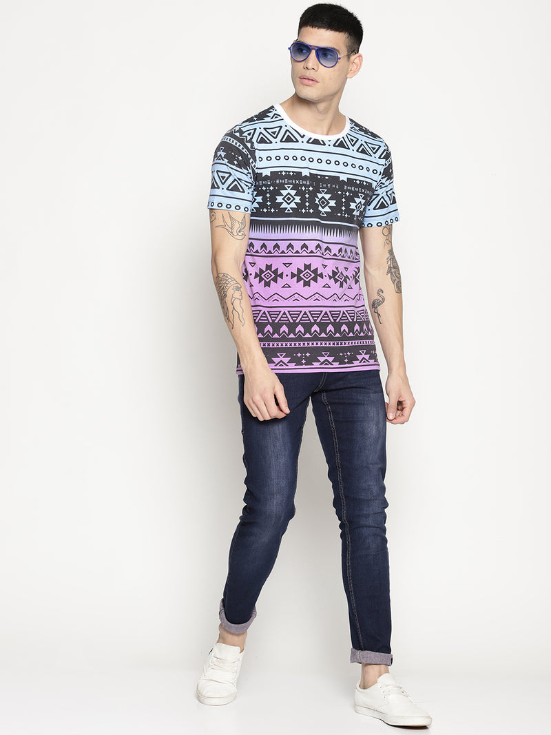 Impackt Multi colored all over print t-shirt